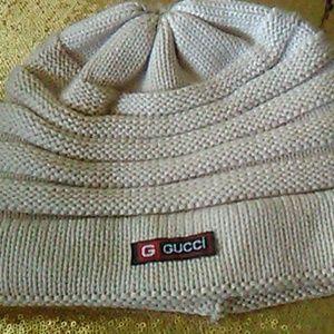 Gucci Beige Knitted Beannie hat Wool